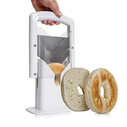 Bagel Slicer High End White Plastic and Stainless Steel Guillotine...