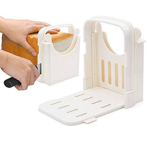 HYAM Bread Slicer, Adjustable Bread/Roast/Loaf Slicer Cutter,Folding...