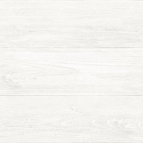 NuWallpaper NU3129 Reclaimed Shiplap Peel & Stick Wallpaper,...