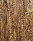 Distressed Wood Wallpaper Rustic Wood Con-Paper Wood Grain Reclaimed...