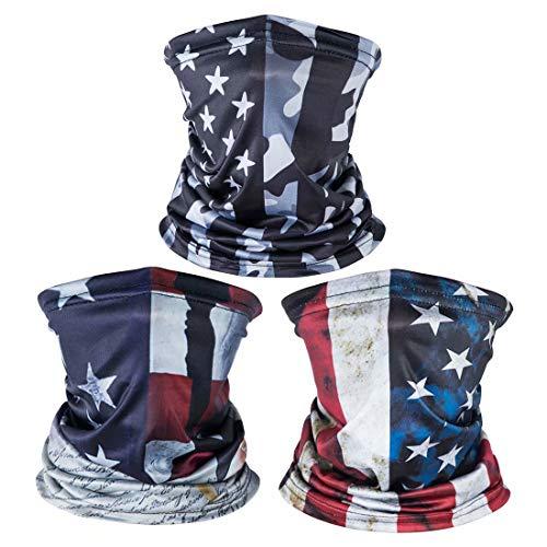 American US Flag Face Bandana, Sun UV Dust Protection Reusable...