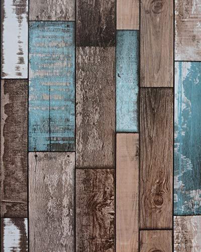 Reclaimed Wood Wallpaper Wood Plank Wallpaper Wood Wallpaper Stick and...