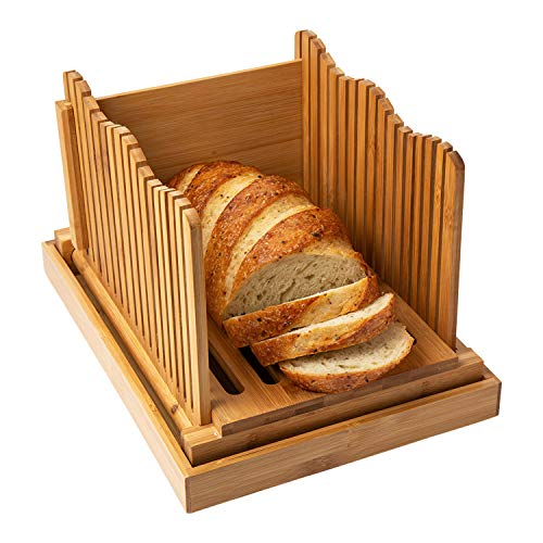 Bamboo Bread Slicer for Homemade Bread Loaf – Wooden Bread Cutting...