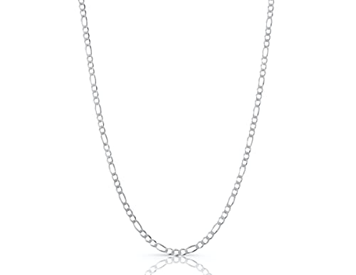 Authentic Solid Sterling Silver Figaro Link .925 ITProLux Necklace...