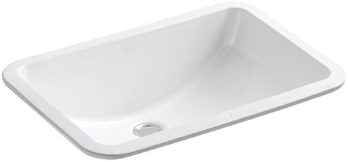 KOHLER K-2214-0 Ladena Under-Mount Bathroom Sink, White