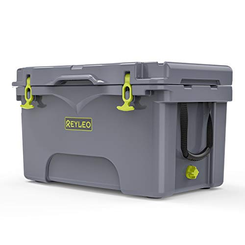 REYLEO Ice Chest, Portable Rotomolded Arctic Cooler Keeps Ice Up to 3...
