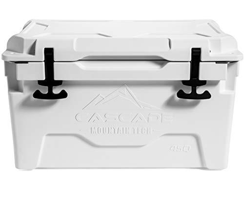 Cascade Mountain Tech Rotomolded White Cooler - Heavy Duty for...