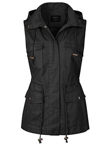 MixMatchy Women's Drawstring Lightweight Loose Fit Sleeveless Vest...
