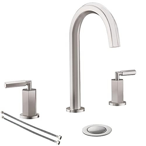 8-Inch Widespread Bathroom Faucet Brushed Nickel 2-Handle Bathroom...