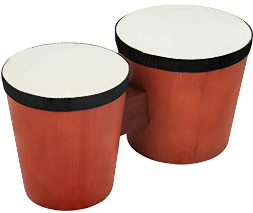 Click N' Play Percussion Bongo Drum Set for Kids & Beginners, Wooden...