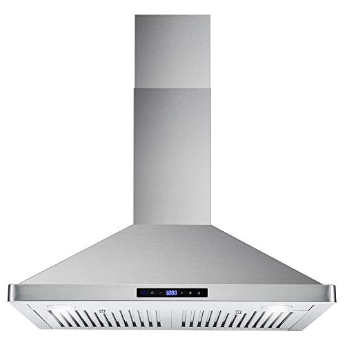 Cosmo 63175S 30 Inch 380 CFM Wall Mount Kitchen Range Hood with Soft...