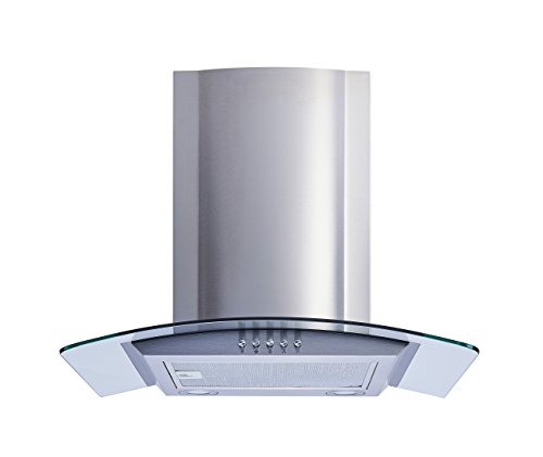 Winflo 30 In. Convertible Stainless Steel/Glass Wall Mount Range Hood...