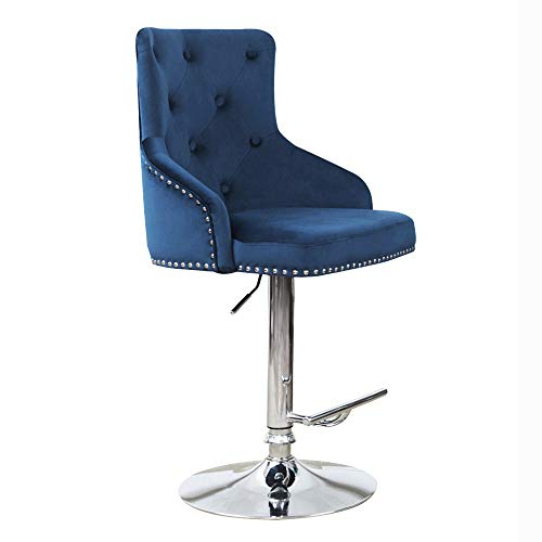 DMF Furniture Velvet Bar Stools Chairs with High Back Arms, Height...