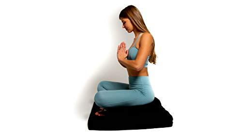 Awaken Meditation - Crescent Zafu Cushion and Zabuton Mat Set   Yoga...