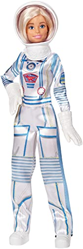 Barbie Astronaut Doll Wearing Space Suit and Helmet, Blonde, for 3 to...