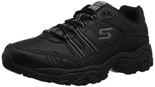 Skechers Men's After Burn Memory Fit Strike On Sneaker,Black,US 15 WW