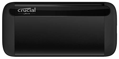 Crucial X8 1TB Portable SSD – Up to 1050MB/s – USB 3.2 – USB-C,...