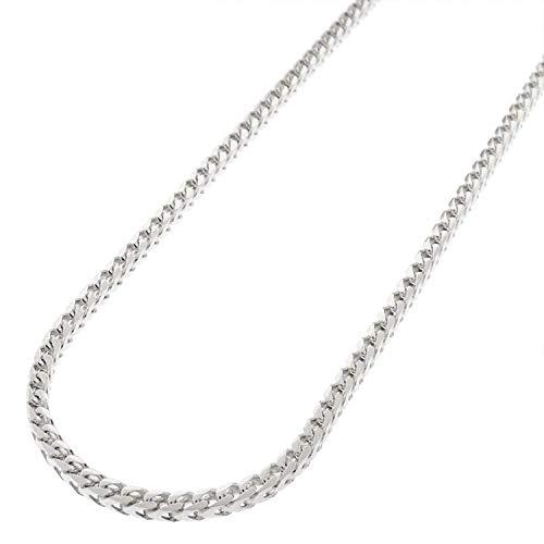 PREMIUM .925 Solid Sterling Silver Franco Square Box Link Rhodium...