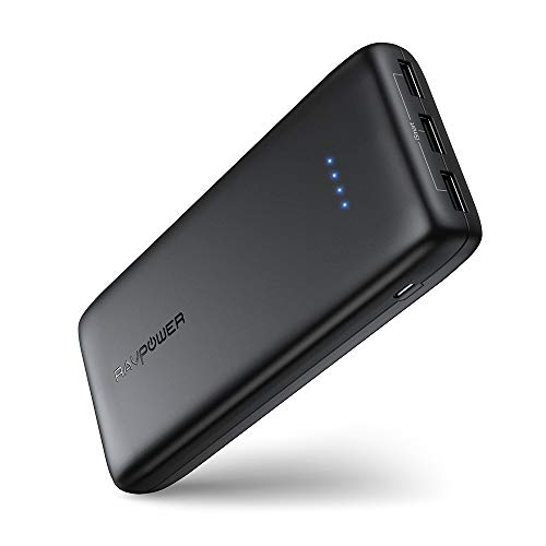 RAVPower Portable Charger 22000mAh, External Battery Pack Power Bank...