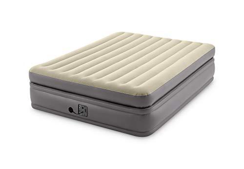 Intex -Queen Comfort Elevated Fiber-Tech Airbed, Gold, Model:64163EP