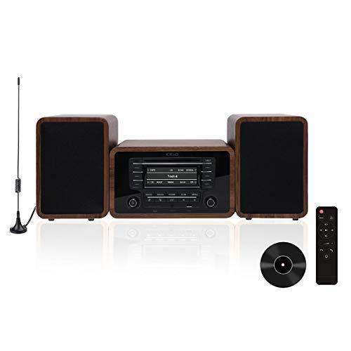 KEiiD Stereo Shelf System Powered with Bookshelf Speakers RMS 2X 25W...