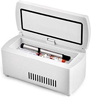 Enshey Portable Insulin Cooler Refrigerated Box LCD Display Insulin...