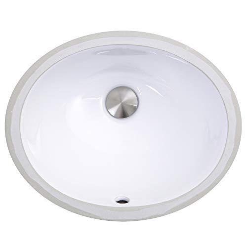 Nantucket Sinks UM-13x10-W 13-Inch by 10-Inch Oval Ceramic Undermount...