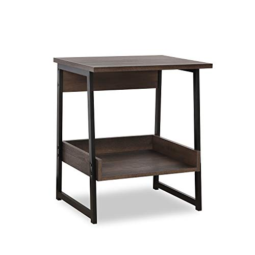 Sekey Home End Table, 2-Tier Side Table with Storage Shelf, Sturdy and...