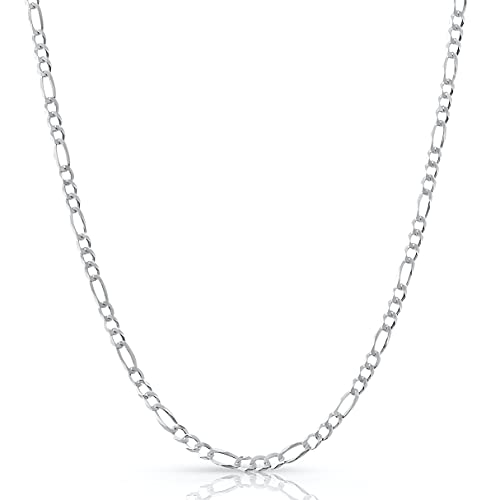 Figaro Chain Sterling Silver X ITProLux Technology 2MM-10.5MM | No...