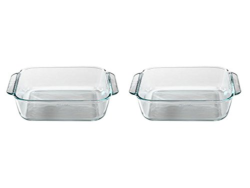 Pyrex FBA_1105395 Basics 8.1' Square (2 Quart), 8 inch, Clear