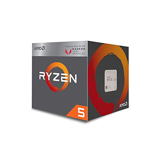 AMD Ryzen 5 3400G 4-core, 8-Thread Unlocked Desktop Processor with...