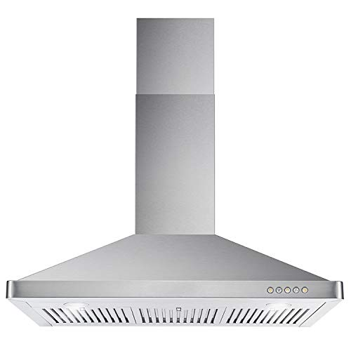 Cosmo 63190 36 in. Wall Mount Range Hood with Ductless Convertible...
