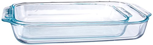 Pyrex 1107101 Basics Clear Oblong Glass Baking Dishes, 2 Piece Value...