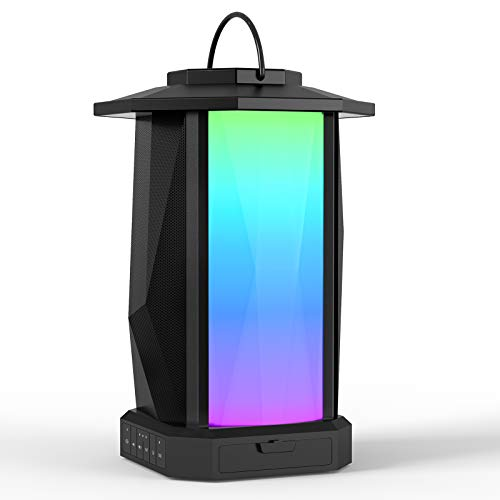 Ortizan Outdoor Bluetooth Speaker with LED Lights, 50W Loud Stereo...