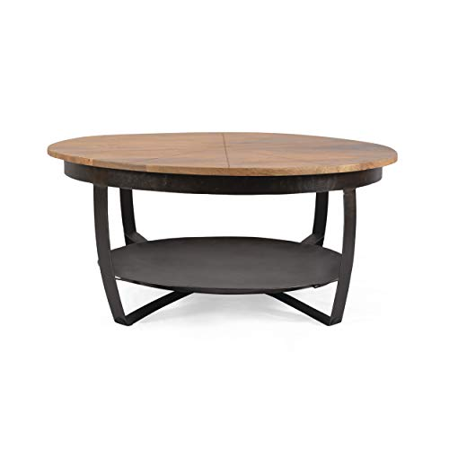 Christopher Knight Home Meroy Coffee Table, Natural, Black