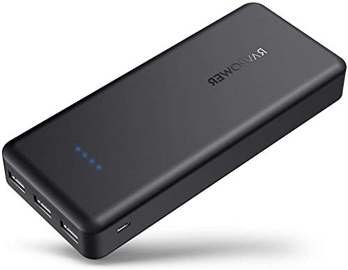 Upgraded RAVPower Portable Charger 22000mAh, Power Bank External...
