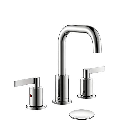 TimeArrow Widespread 2-Handle Bathroom Sink Faucet Chrome Vanity...