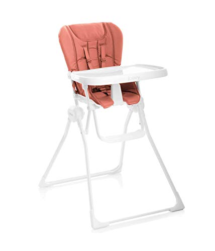Joovy Nook High Chair, Compact Fold, Swing Open Tray, Coral