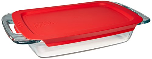 Pyrex Easy Grab Glass Food Bakeware and Storage Container (2-Quart,...