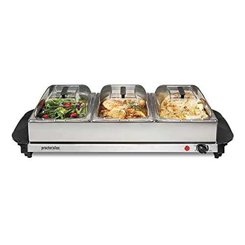 Proctor Silex Server & Food Buffets Food Warmer for Parties, Three 2.2...