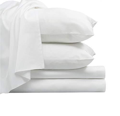 Pizuna 800 Thread Count Cotton White Queen Sheets Set, 100% Long...
