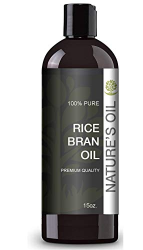 Rice Bran Oil (15oz.) by Nature's Oil - 100% Pure and Cold Pressed...