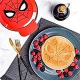 Marvel Spider-Man Waffle Maker -Spidey's Mask on Your Waffles- Waffle...