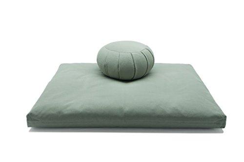 Deluxe Zafu & Zabuton 2 Piece Set - Yoga/Meditation Cushions - Made in...