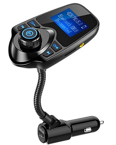 Nulaxy Wireless In-Car Bluetooth FM Transmitter Radio Adapter Car Kit...