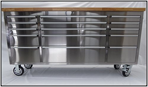 Thor Group HTC7215W 72' Wide 15 Drawer Stainless Steel...