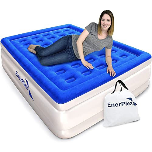 EnerPlex King Air Mattress for Camping, Home & Travel - 18 Inch Double...