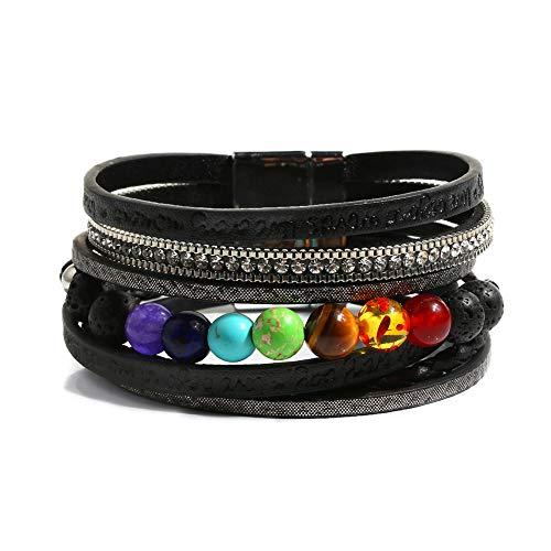 Vercret Women Cross Bracelets Jewelry - Leather Bracelet Bangle with...