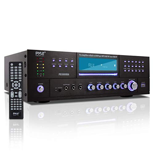 4 Channel Wireless Bluetooth Amplifier - 3000 Watt Stereo Speaker Home...