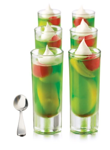 Libbey Just Desserts Parfait Glass with Minaiture Stainless Steel...